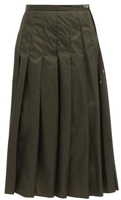 Moncler Pleated Technical Midi Skirt - Khaki