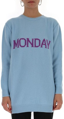 Alberta Ferretti Monday Mini Sweater Dress