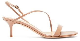 Gianvito Rossi Manhattan 55 Leather Sandals - Nude