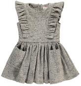 Morley Gardenia Ruffled Flecked Flannel Dress