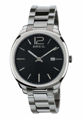 Breil Milano Men's Clubs Watch Collection Mono-Colour Black dial 2 Hands Quartz Movement and Steel Bracelet TW1713