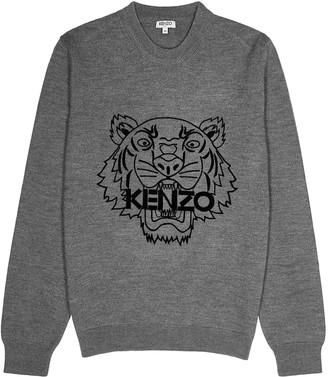 Kenzo Grey Tiger Wool Jumper