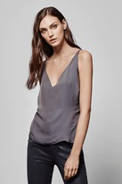 J Brand Lucy Silk Cami in Storm Grey