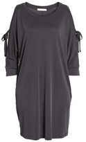 Lush Women's Tied Cold Shoulder Dress