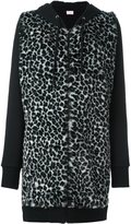 Giamba animal print long hoodie
