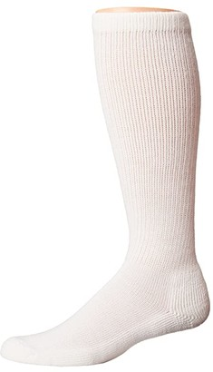 Thorlos Advanced Diabetic Over Calf Single Pair (White) Men's Crew Cut Socks Shoes