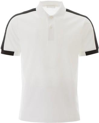 Prada Contrast Detail Polo Shirt