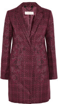 Tory Burch Patsy embroidered bouclé-tweed coat