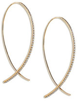 Lana Fatale Large Upside Down Hoops with Diamonds