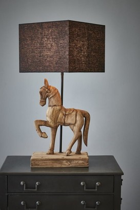 Macybe Wooden Horse Table Lamp Large