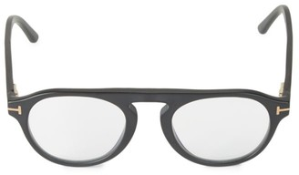 Tom Ford 49MM Round Blue Block Optical Glasses