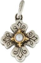 Konstantino Bi-Color Pearl Cross Pendant