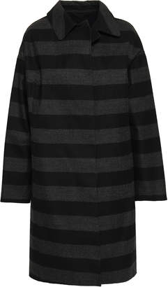 MACKINTOSH Striped Brushed-cotton Coat