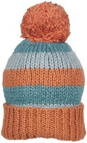 Kiwi Pom Pom Hat (Baby) - Red/Teal/Slate-Smalll (6-24 Months)