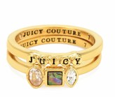 Juicy Couture Semi-Precious Juicy Ring Set