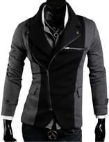 Win8Fong TOP Design Mens Casual Sexy Slim FIT Blazers Coats Suit Jackets 2 Colors (, L)