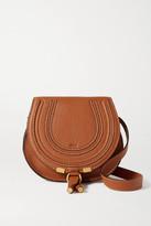 Chloé Marcie Mini Textured-leather Shoulder Bag - Tan