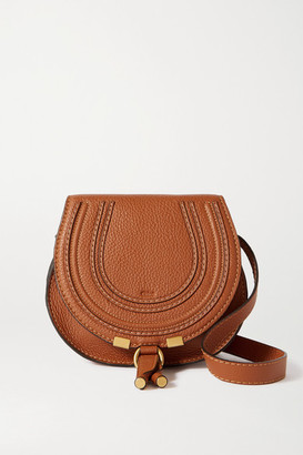 Chloé Marcie Mini Textured-leather Shoulder Bag - Tan