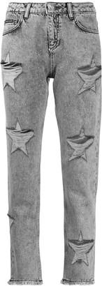 Philipp Plein Boyfriend Stars distressed jeans
