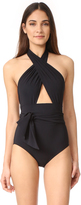 Karla Colletto Prima Wrap Halter Maillot