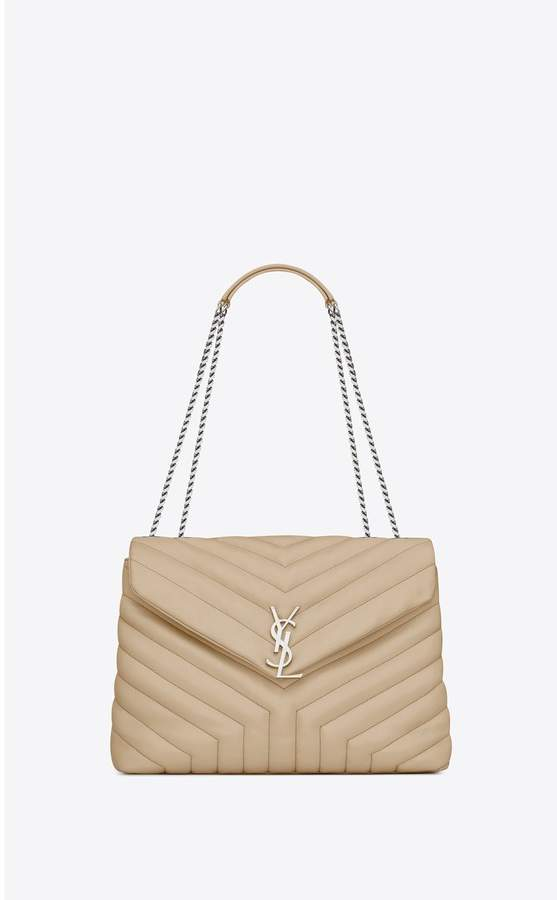 Saint Laurent Loulou Medium Bag In Y-Quilted Leather