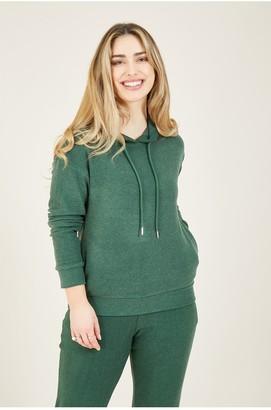Yumi Green Velour Loungewear Hoodie
