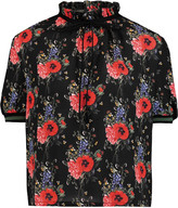 Mother of Pearl Palmer floral-print silk top