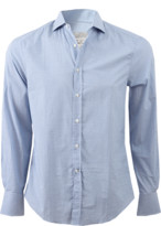 Brunello Cucinelli Check Spread Collar Shirt
