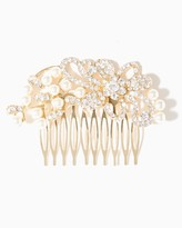 Charming charlie Crystal & Pearl Swirl Hair Comb