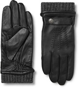 Dents - Henley Leather And Wool-blend Tech Gloves