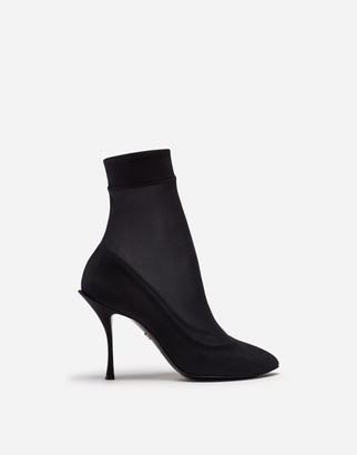 Dolce & Gabbana Stretch Georgette Booties