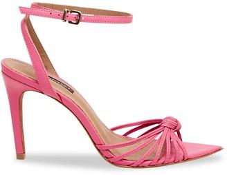 BCBGMAXAZRIA Delia Leather Ankle-Strap Sandals