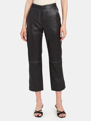 Stand Studio Zoe Side Slit Leather Pants