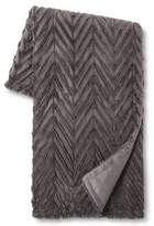 "Xhilaration Charcoal Chevron Faux Fur Throw (50""x60"")"