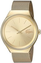 Lacoste Women's 'Valencia' Quartz and Stainless Steel Automatic Watch, Color:Gold-Toned (Model: 2000952)