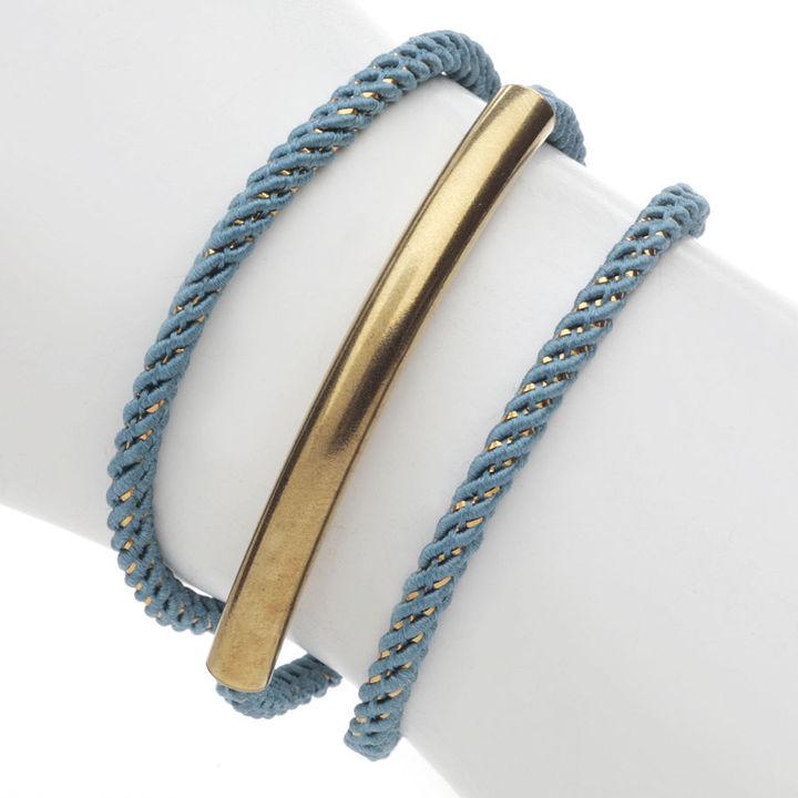 Brandy Pham Caitlyn Rope Bar Bracelet, Dusty Blue 1 ea
