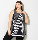 Avenue Graphic Tank with Necklace