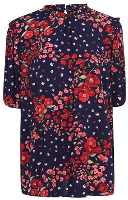 Oasis Curve Poppy Print Tee
