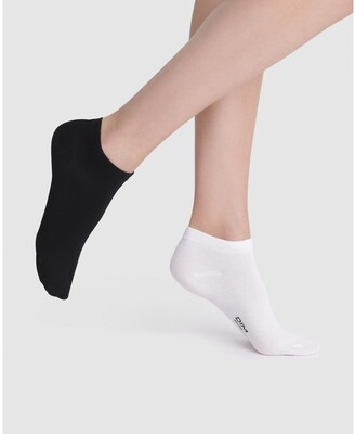 Dim Pack of 4 Pairs of Invisible Socks in Cotton Mix