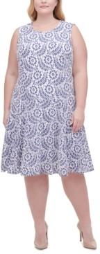 Tommy Hilfiger Plus Size Lace Fit & Flare Dress