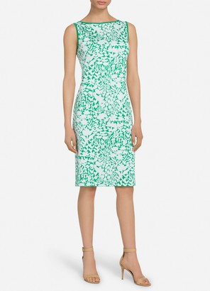 St. John Two Color Floral Jacquard Dress