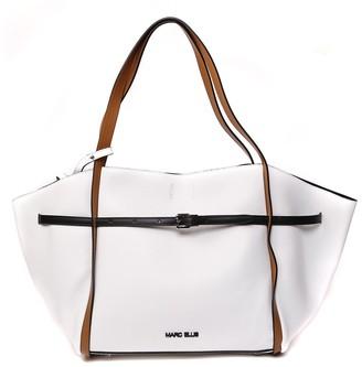 Marc Ellis White & Camel Leather Handbag