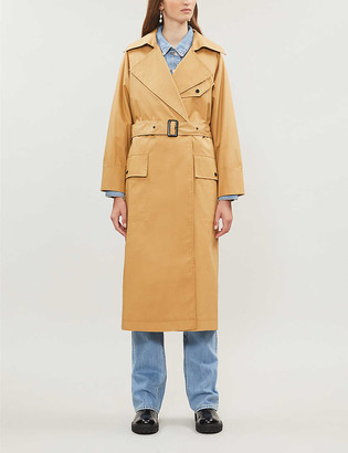 Topshop Editor belted cotton trench coat