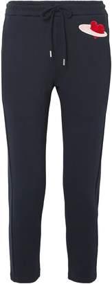 Markus Lupfer Appliqued Cotton-fleece Track Pants