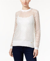 MICHAEL Michael Kors Sequined Mesh Sweater