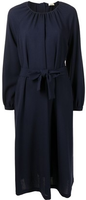 Odeeh Draped Dress With Tied Waist