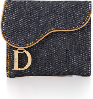 Christian Dior Denim Saddle Bi-Fold Wallet