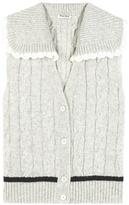 Miu Miu Sleeveless Wool Cardigan