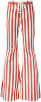Roberto Cavalli striped flared jeans - women - Cotton/Hemp/Polyester/Viscose - 38