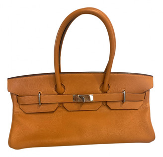 Hermã ̈S HermAs Birkin Shoulder Orange Leather Handbags